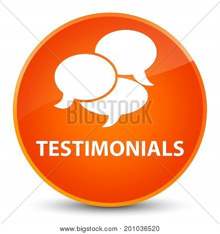 Testimonials (comments Icon) Elegant Orange Round Button