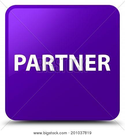 Partner Purple Square Button