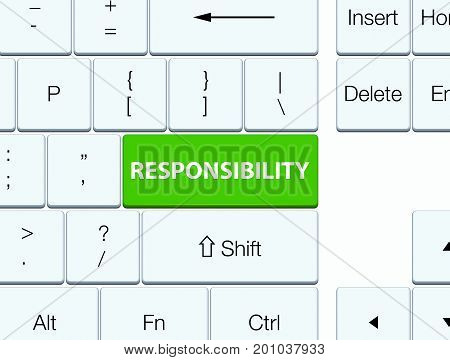 Responsibility Soft Green Keyboard Button