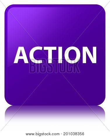 Action Purple Square Button