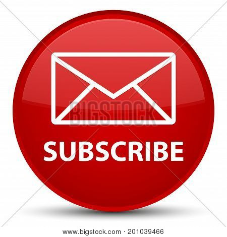 Subscribe (email Icon) Special Red Round Button