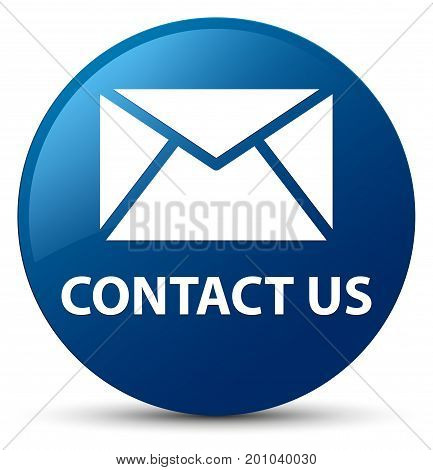 Contact Us (email Icon) Blue Round Button