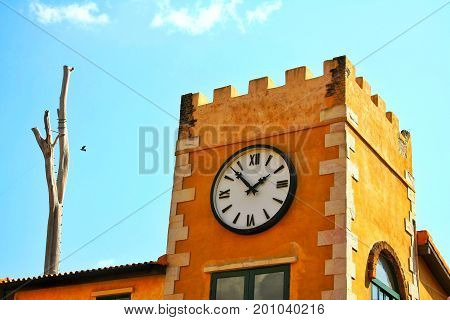 The tourist place in Thailand. Clock Tower in Palio Khaoyai.
