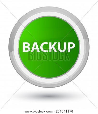 Backup Prime Green Round Button