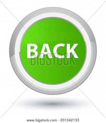 Back Prime Soft Green Round Button