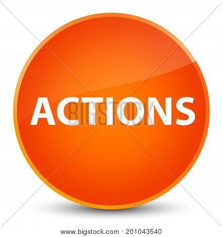 Actions Elegant Orange Round Button
