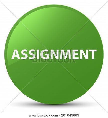Assignment Soft Green Round Button