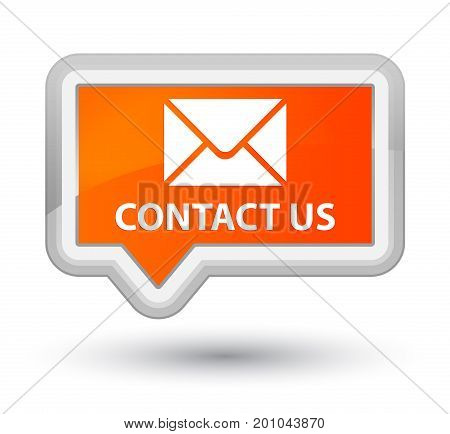 Contact Us (email Icon) Prime Orange Banner Button