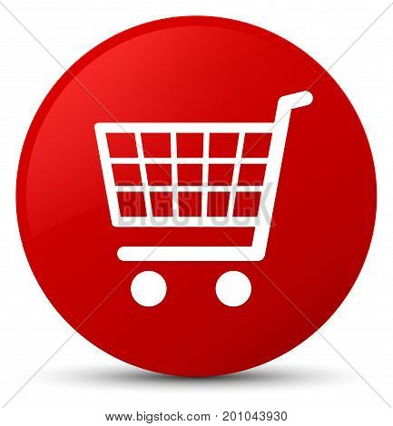 Ecommerce Icon Red Round Button