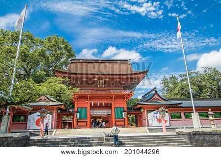 Shizuoka Prefecture Japan - December 18 2016:Fujisan Sengen Shrine was one of the largest and grandest shrines in the city of Fujinomiya.