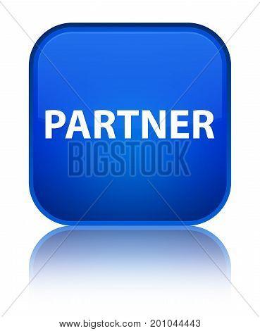 Partner Special Blue Square Button