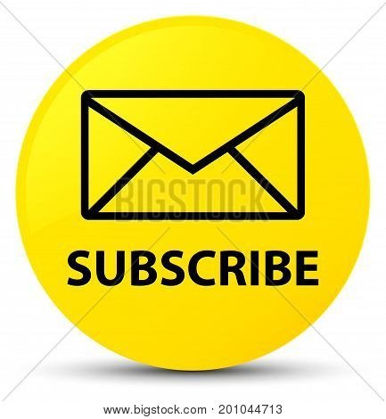 Subscribe (email Icon) Yellow Round Button