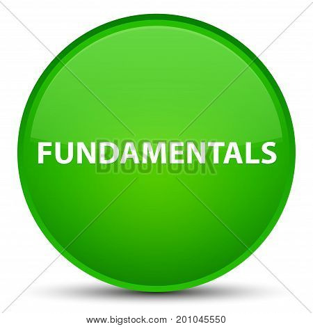 Fundamentals Special Green Round Button