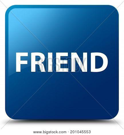 Friend Blue Square Button
