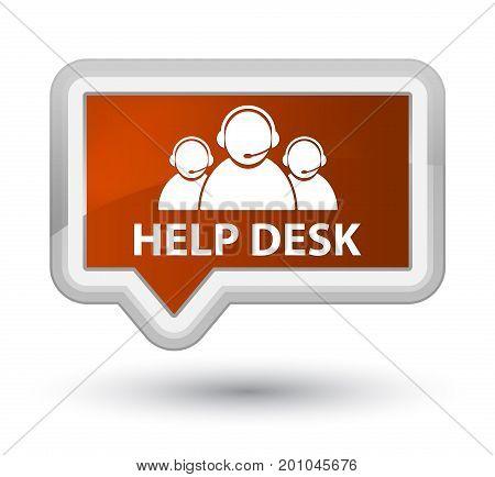 Help Desk (customer Care Team Icon) Prime Brown Banner Button