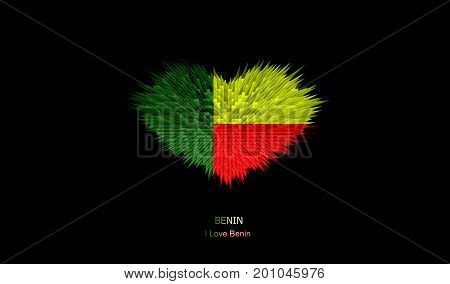 The Heart of Benin Flag abstract background.