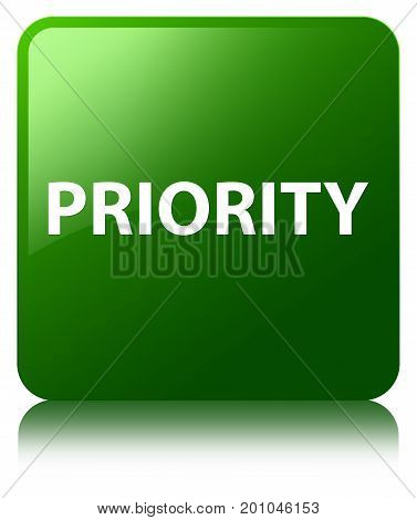 Priority Green Square Button