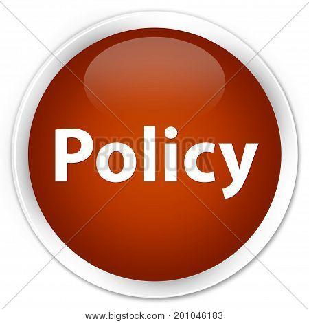 Policy Premium Brown Round Button