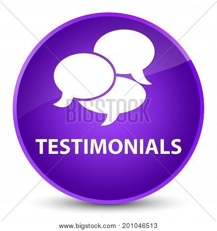 Testimonials (comments Icon) Elegant Purple Round Button