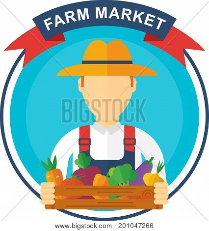 Man Farm Logo Vector & Photo (Free Trial) | Bigstock