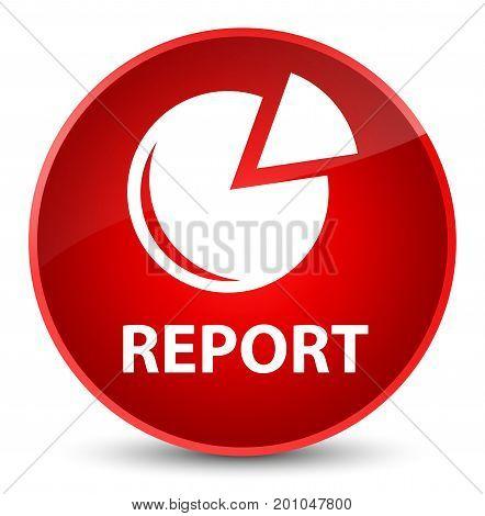 Report (graph Icon) Elegant Red Round Button