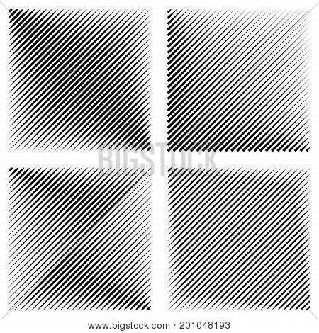 Set manga pop art background, diagonal lines stripes, with the effect active speed acceleration, vector halftone pattern background stamp Fight Manga graphic texture Sun rays or star burst