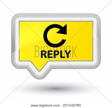 Reply (rotate Arrow Icon) Prime Yellow Banner Button