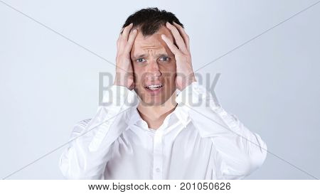 Upset Shocked Businessman Get Bad News Of Job Rejection
