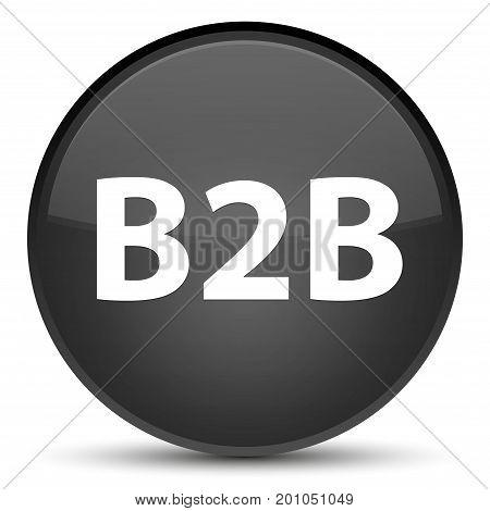 B2B Special Black Round Button