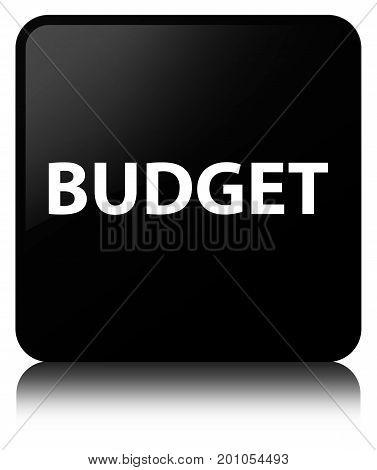 Budget Black Square Button