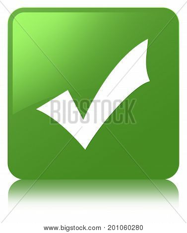 Validation Icon Soft Green Square Button