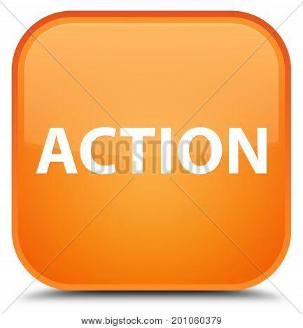 Action Special Orange Square Button