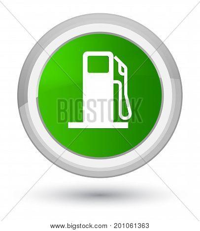 Fuel Dispenser Icon Prime Green Round Button