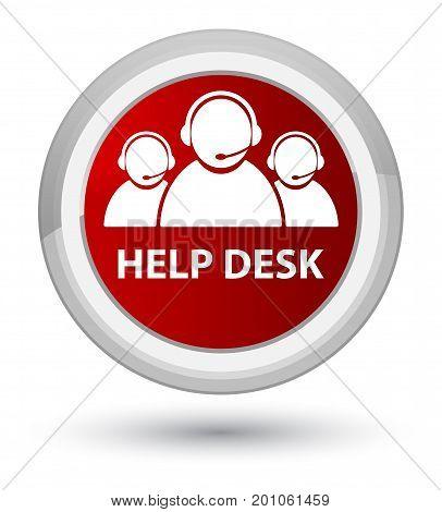 Help Desk (customer Care Team Icon) Prime Red Round Button