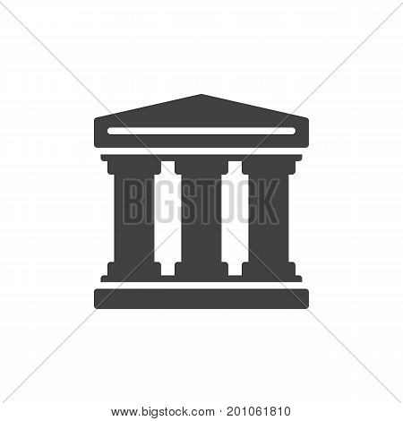 History icon vector, filled flat sign, solid pictogram isolated on white. Historical building symbol, logo illustration. Pixel perfect vector graphics