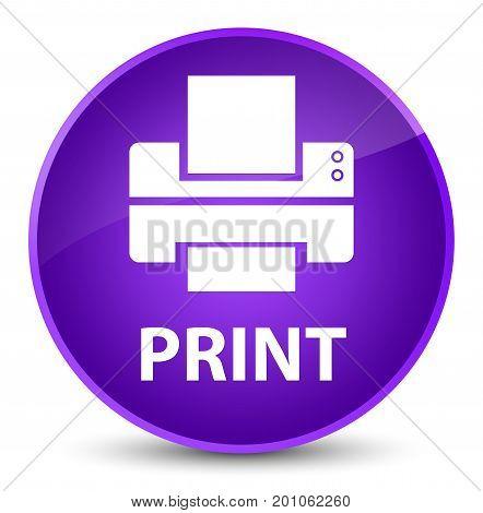 Print (printer Icon) Elegant Purple Round Button