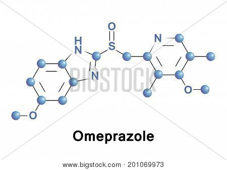 Omeprazole is a medication used in the treatment of gastroesophageal reflux disease peptic ulcer disease and Zollinger Ellison syndrome