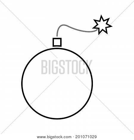 Bomb Black Color Icon .