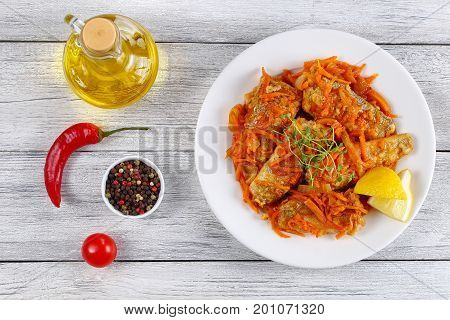 Nototheni Stewed With Carrot And Onion