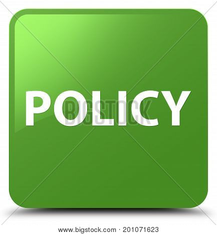 Policy Soft Green Square Button
