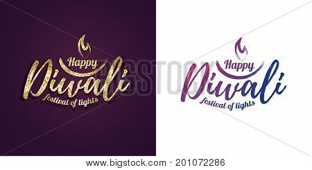 Vector illustration on the theme of the traditional celebration of happy diwali. Deepavali light and fire festival.