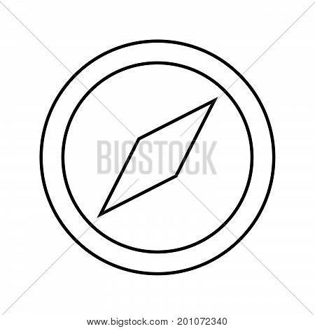 Compass Black Color Icon .