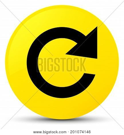 Reply Rotate Icon Yellow Round Button