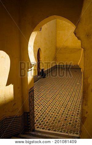 Popular Landmark - Mausoleum Of Moulay Idris In Meknes, Morocco.