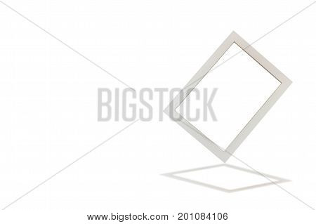 Tilted frame isolated on white background with clipping path.
