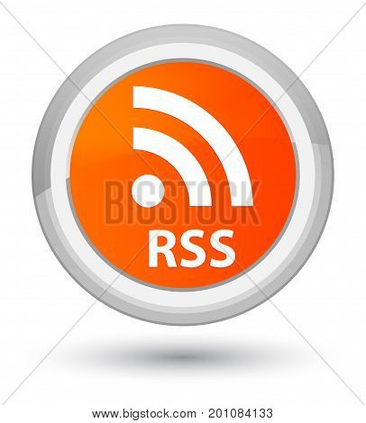Rss Prime Orange Round Button