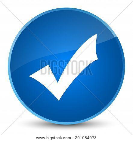 Validation Icon Elegant Blue Round Button