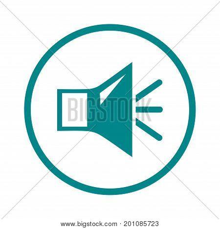 Loud speaker icon. Speaker volume sign icon. Sound symbol. Flat design style.