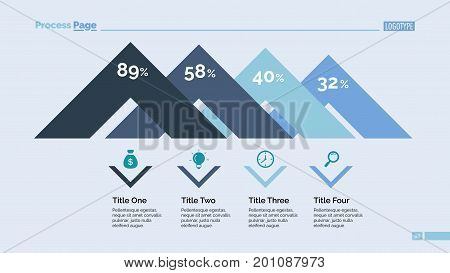 Angels diagram slide template. Business data. Graph, diagram, design. Creative concept for infographic, templates, presentation, report. Can be used for topics like analysis, statistics, research