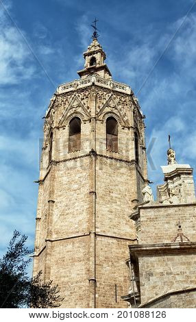 An Ancient Bell Tower in Valencia Spain